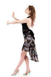the signature skirt in chandeliers silk - Poema Tango Clothes: handmade luxury clothing for Argentine tango