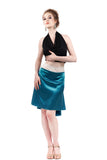 the signature skirt in ciel silk