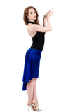 the signature skirt in cobalt blue silk - Poema Tango Clothes: handmade luxury clothing for Argentine tango