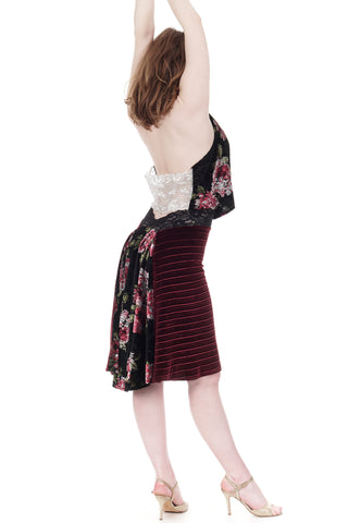 the signature skirt in crimped & monet velvet
