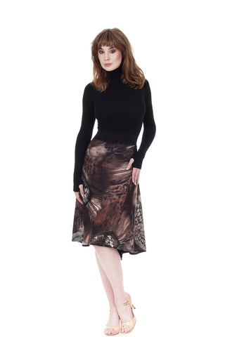 the signature skirt in dark lake & inky sequin