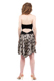 the signature skirt in escher butterfly - Poema Tango Clothes: handmade luxury clothing for Argentine tango