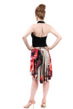 the signature skirt in fractured poppy - Poema Tango Clothes: handmade luxury clothing for Argentine tango