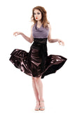 the signature skirt in glitzy plum - Poema Tango Clothes: handmade luxury clothing for Argentine tango
