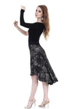 the signature skirt in grunge mesh - Poema Tango Clothes: handmade luxury clothing for Argentine tango