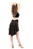 the signature skirt in gunmetal glimmer - Poema Tango Clothes: handmade luxury clothing for Argentine tango