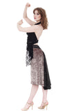the signature skirt in hammered ore and inky sequins - Poema Tango Clothes: handmade luxury clothing for Argentine tango