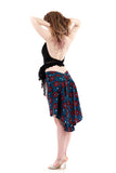 the signature skirt in inked vines - Poema Tango Clothes: handmade luxury clothing for Argentine tango