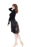 the signature skirt in inky sequin & dark lake - Poema Tango Clothes: handmade luxury clothing for Argentine tango