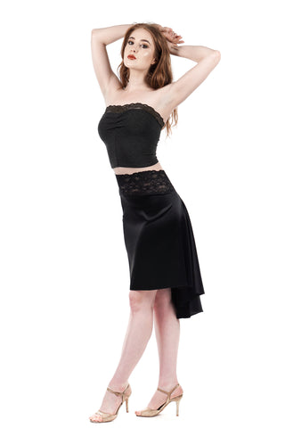 the signature skirt in inky silk