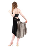 the signature skirt in jet & titania sequins - Poema Tango Clothes: handmade luxury clothing for Argentine tango
