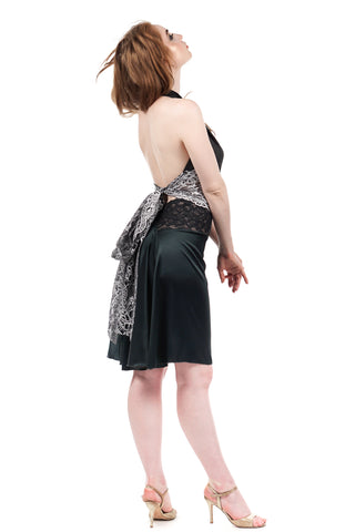 the signature skirt in juniper silk