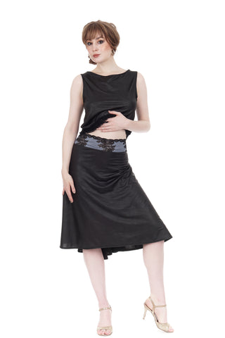 the signature skirt in leatherette