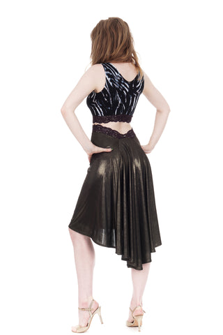 the signature skirt in liquid moonlight