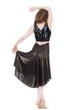 the signature skirt in liquid moonlight - Poema Tango Clothes: handmade luxury clothing for Argentine tango