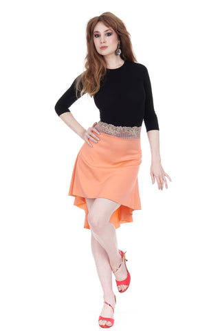 the signature skirt in luminous matte coral