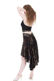 the signature skirt in olive burnout - Poema Tango Clothes: handmade luxury clothing for Argentine tango