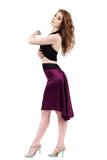 the signature skirt in orchid silk