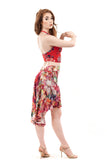 the signature skirt in painted iris - Poema Tango Clothes: handmade luxury clothing for Argentine tango