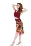 the signature skirt in painter's palette - Poema Tango Clothes: handmade luxury clothing for Argentine tango