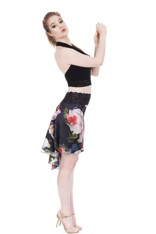 the signature skirt in photorealistic orchids