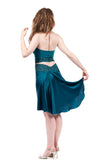 the signature skirt in pure cerulean - Poema Tango Clothes: handmade luxury clothing for Argentine tango