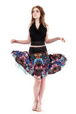 the signature skirt in rainbow gem - Poema Tango Clothes: handmade luxury clothing for Argentine tango