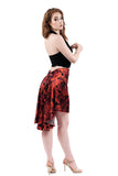 the signature skirt in red blown roses silk - Poema Tango Clothes: handmade luxury clothing for Argentine tango