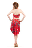 the signature skirt in red porcelain - Poema Tango Clothes: handmade luxury clothing for Argentine tango