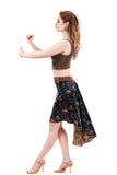 the signature skirt in sapphire rose - Poema Tango Clothes: handmade luxury clothing for Argentine tango