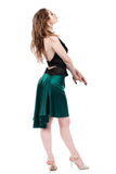 the signature skirt in scarab silk