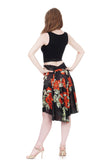 the signature skirt in scarlet peony - Poema Tango Clothes: handmade luxury clothing for Argentine tango