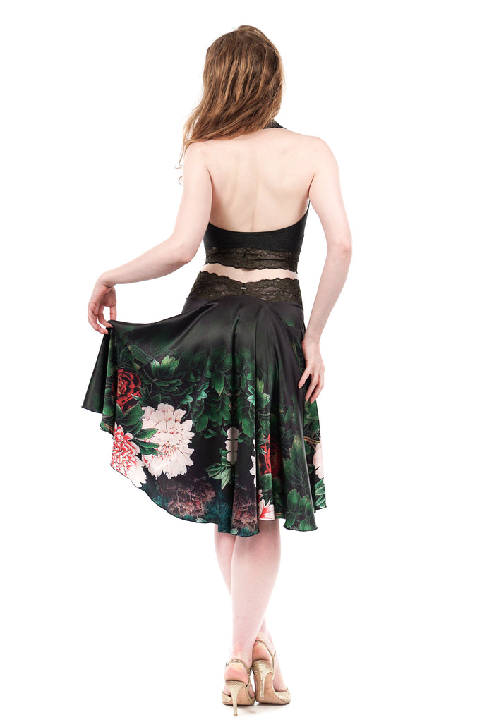 the signature skirt in shadow peony - Poema Tango Clothes: handmade luxury clothing for Argentine tango