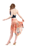 the signature skirt in sunset cranes - Poema Tango Clothes: handmade luxury clothing for Argentine tango