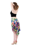 the signature skirt in technicolor lily silk - Poema Tango Clothes: handmade luxury clothing for Argentine tango