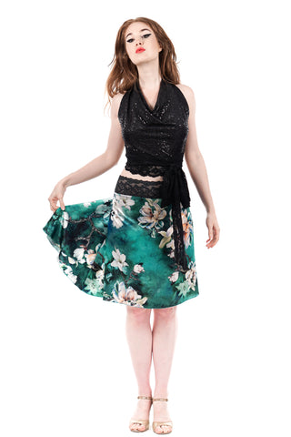 the signature skirt in turquoise magnolia