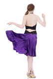 the signature skirt in ultra violet silk - Poema Tango Clothes: handmade luxury clothing for Argentine tango