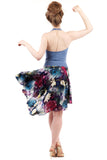 the signature skirt in watercolor lotus - Poema Tango Clothes: handmade luxury clothing for Argentine tango