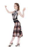 the signature skirt in watercolor windowpane - Poema Tango Clothes: handmade luxury clothing for Argentine tango