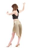 the signature skirt in winter wheat - Poema Tango Clothes: handmade luxury clothing for Argentine tango