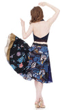 three blues circle skirt - Poema Tango Clothes: handmade luxury clothing for Argentine tango