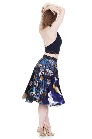 three blues circle skirt - CLEARANCE