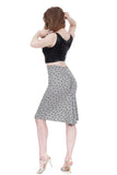 treble clef ruched skirt - Poema Tango Clothes: handmade luxury clothing for Argentine tango