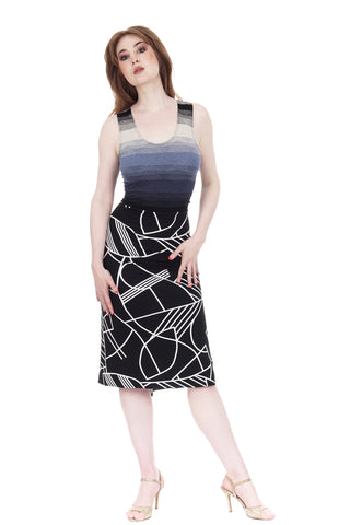 twilight ombre & black modern ruched tank dress