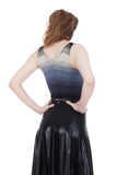 twilight ombre dance tank - Poema Tango Clothes: handmade luxury clothing for Argentine tango
