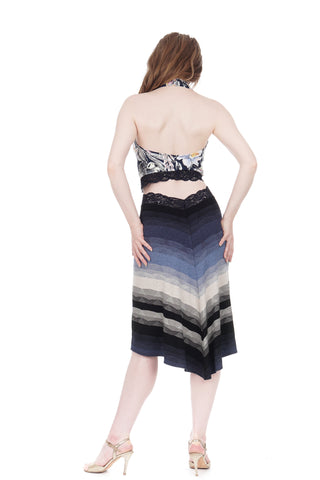 twilight ombre fluted skirt