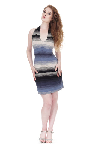 twilight ombre halter dress