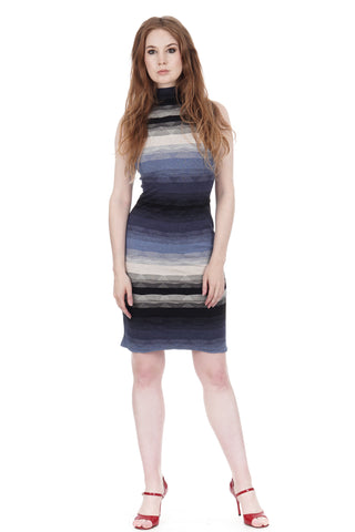 twilight ombre high-neck dress