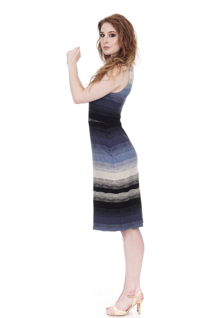 twilight ombre tank dress - Poema Tango Clothes: handmade luxury clothing for Argentine tango