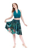 underwater peony circle skirt - Poema Tango Clothes: handmade luxury clothing for Argentine tango
